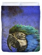 Blue Exotic Parrot- Pirates Of The Caribbean Duvet Cover