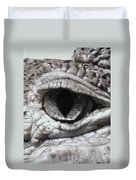 Eye Of Alligator Duvet Cover