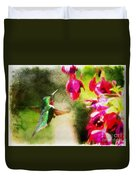 Eye On The Fuchsia Duvet Cover