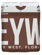 Eyw Key West Luggage Tag II Duvet Cover