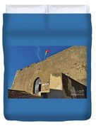 Facade Of The Medieval Castle Of Castro Marim Duvet Cover