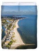 Fairfield Beach Connecticut Aerial Duvet Cover