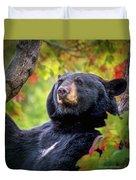 Fall Black Bear Duvet Cover