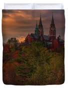Fall Clouds Over Holy Hill Duvet Cover