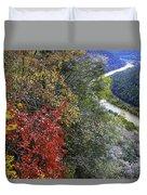 Fall Meets Winter Duvet Cover