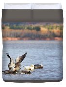 Fall Migration At Whittlesey Creek Duvet Cover