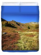 Fall On The Mountains Duvet Cover