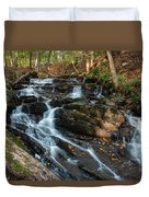 Falling Waters In October Duvet Cover