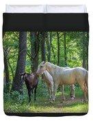 Family Of Horses Duvet Cover