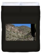 Family Of Saguaro Duvet Cover