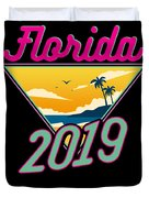 Family Vacation 2019 Florida Duvet Cover