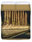 Fantacy Fountain Night Lit San Pedro Gateway Duvet Cover
