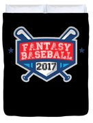 Fantasy Baseball Design 2017 Duvet Cover