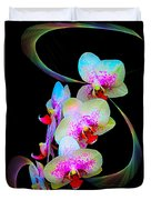 Fantasy Orchids In Full Color Duvet Cover