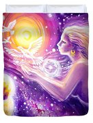 Fantasy Painting About The Flight Of A Dream In The Universe Duvet Cover