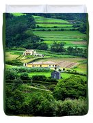 Farm Houses Duvet Cover