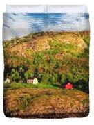Farm On The Edge Duvet Cover