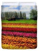 Farming Tulips Duvet Cover