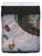 Father And Son On The Swings Duvet Cover