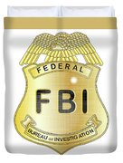 Fbi Badge Duvet Cover