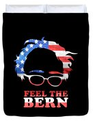 Feel The Bern Patriotic Duvet Cover