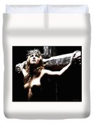 Female Christ Duvet Cover