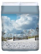 Fences In The Sand Duvet Cover