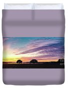 Fiery Sunset Over Canyon Lake - Comal County - Central Texas Hill Country Duvet Cover
