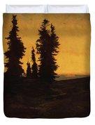Fir Trees At Sunset Duvet Cover
