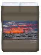 First Day Of Fall Sunset Duvet Cover