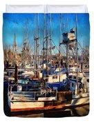 Fishing Boat Dreams Duvet Cover by Thom Zehrfeld