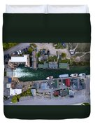 Fishtown Dam Panorama From Above Duvet Cover