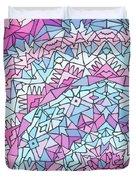 Comfortably Cosmic, In Lavendar Duvet Cover
