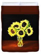 Five Sunflowers Duvet Cover