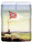 Flag Of Fort Sumter Duvet Cover