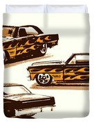 Flamin Chevrolet 66 Nova Duvet Cover