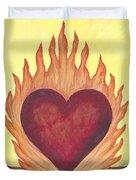 Flaming Heart Duvet Cover