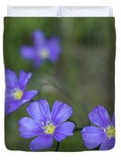 Flax Wildflowers Duvet Cover