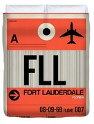 Fll Fort Lauderdale Luggage Tag I Duvet Cover