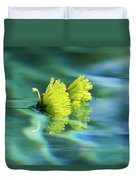 Floating Daisies 1 Duvet Cover by Dawn Richards