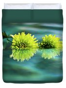 Floating Daisies 2 Duvet Cover by Dawn Richards