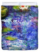 Floating Lilies Oil Painting Duvet Cover