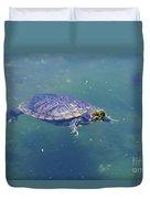 Floating Turtle Duvet Cover