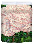 Floral Interpretation - White Rose Duvet Cover by James W Johnson