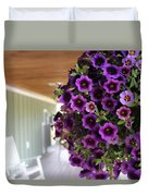 Floral Porch Sitting Duvet Cover