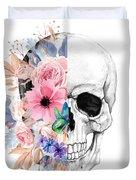 Floral Skull 2 Duvet Cover