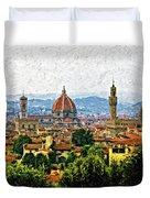 Florence Impasto Duvet Cover