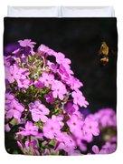 Flower And Bee Duvet Cover