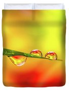 Flower In Water Droplet Duvet Cover