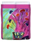 Flowers Gone Wild Duvet Cover by Deborah Boyd